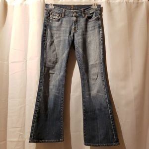 7FAM flare light wash Jeans size 30